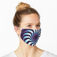 """Celebration Town Dark Green Chevron Wave with Front Porch White"" Mask by CelebrationTown Zebra Mask, Green Chevron, Masks For Sale, Diy Face Mask, Face Masks, Op Art, Optical Illusions, Mask Design, Mask For Kids"