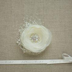 Fleur cheveux mariage fleur de cheveux mariée fleur par LeFlowers
