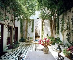 Orange agave at a home created by West Coast interior design collective Commune.
