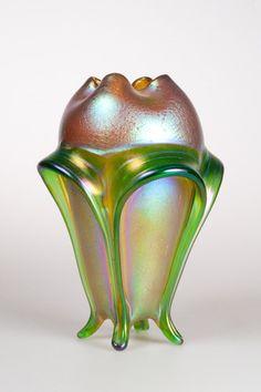Loetz Silberiris Vase Organic Flower Look | eBay
