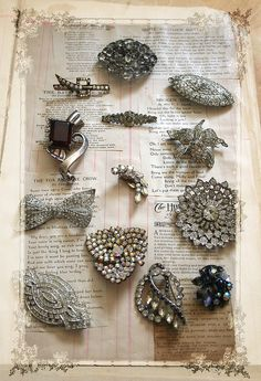 vintage pins -- wouldn't they look great on a black sweater?
