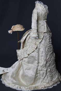 eBay, from Russian Federation 22 bids...sold for $354 Antique dress for French Fashion doll 14-16 ""