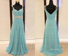 Long prom dresses blue prom dresses cheap prom by sposadress, $159.00