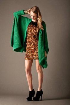 www.the-dreamery.com  ELLIATT Eva Drape Cardi - Moss $129.95