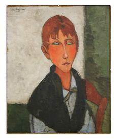 'Die Herrin', öl von Amedeo Modigliani (1884-1920, Italy)