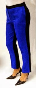 DIY Color Block Pants. I'd like to do these in a few different variations--black and white for one pair, maybe something involving pink for another?