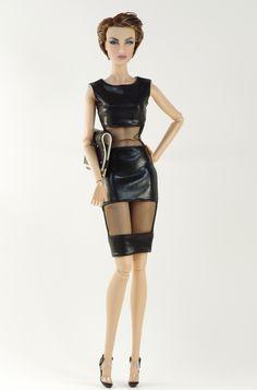 (FR2 body) inc. coat, dress, shoes, purse.