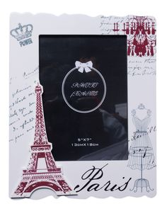 "UberLyfe Premium MDF Wood White ""Always have Paris"" Theme Photo Frame: 5 by 7"