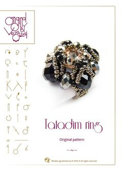 pendant tutorial / pattern Tatadim ring...PDF instruction for personal use only