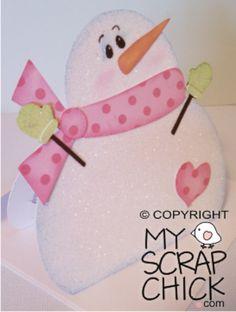 My Scrap Chick Snowman Gift Card Holder SVG