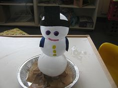 Exploring the 3 phases of water via an ice snowman!