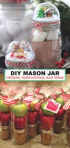 Recipes, instructions, gifts, and more! #masonjarcrafts #masonjardecor