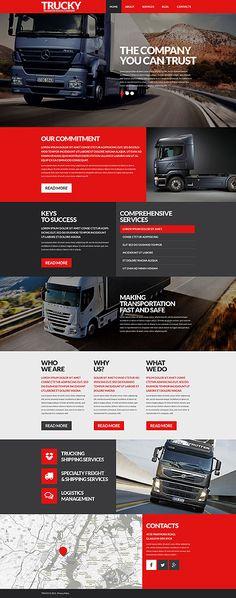 Template 53388 - Transportation  Responsive WordPress  Theme