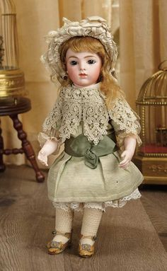 Sanctuary: A Marquis Cataloged Auction of Antique Dolls - March 19, 2016: Petite French Bisque Bebe by Leon Casimir Bru, Size 3, with Sturdy Original Body