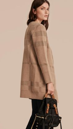 Wool Cashmere Knitted Check Jacket | Burberry