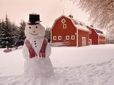 Snowman in the Country, Near Oakbank, Manitoba, Canada