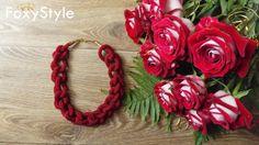 Red Beaded Lariat Necklace Crochet Jewelry, Shine beaded crochet necklace, Transformer lariat, Long Lariat Rope, Elegant Jewelry, beadwork