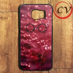 Harry Potter Glasses Red Glitter Samsung Galaxy S7 Edge Case
