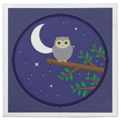A Gray Owl Disposable Napkins