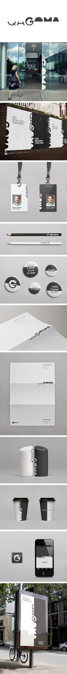 QAGOMA by Chris Maclean #identity #packaging #branding PD