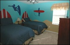 Girls Tropical Bedding | theme bedrooms - Maries Manor: beach theme bedrooms - surfer girls ...