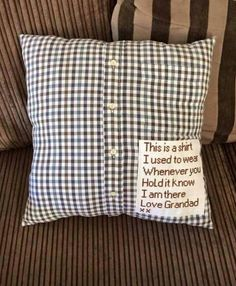 Presents for family members - turning clothes into keepsakes