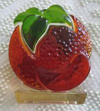 1960's-70's Design Gifts International Orange Resin Napkin Holder Letter Holder