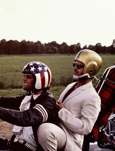 I saw it in the movies, how bout you? What song was playing during this scene? Jack Nicholson and Peter Fonda in Easy Rider