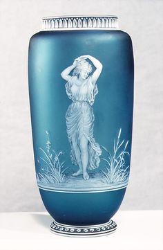 Vase Thomas Webb & Sons Designer and engraver George Woodall  Late 19th century British, Stourbridge