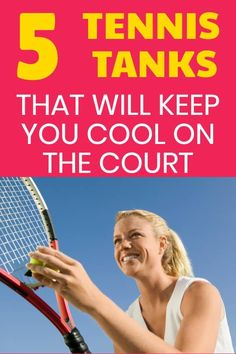 You do not want to get over heated on the tennis court so you need to have tennis gear that will keep you cool in hot weather. These tennis tops are cute and will also keep you cool during your tennis match. Tennis Bags, Tennis Gear, Tennis Gifts, Sport Tennis, Tennis Dress, Open Back Workout Top, Cute Workout Tanks, How To Play Tennis, Tennis Funny