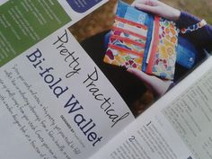 Sewing World Project Feature by Susan Dunlop (SusieDDesigns) Bi-fold Wallet (March 2013 Issue)