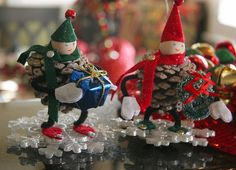 Image result for tutorials christmas decorations pinecone people