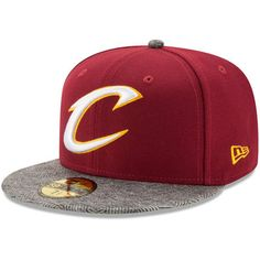 77758296411 Men s New Era Wine Cleveland Cavaliers Gripping Vize 59FIFTY Fitted Hat. Cleveland  Cavaliers HatsNba ClevelandCaps HatsSnapback ...
