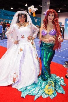 Women Cosplay Costumes D23 Expo Disney