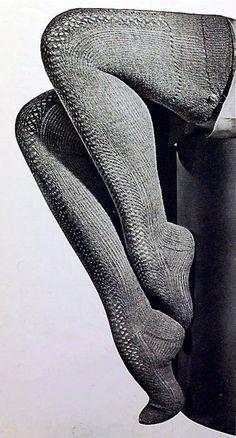 Natasha Nylon In Grey Vintage Stockings Part End