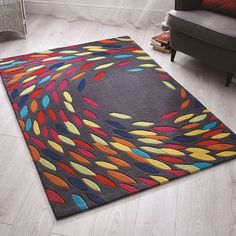 Tapis multicolore swirl flair rugs 120x170