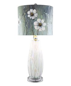 Look what I found on #zulily! Jasmine Flower Hand-Painted Table Lamp #zulilyfinds  Perfect for the guest room...
