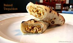 Baked BBQ Taquitos with Shredded Chicken and Sweet Baby Ray's
