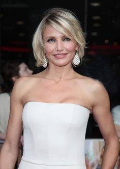 Cameron Diaz sporting a tousled bob during the UK Premiere of 'What To Expect When You're Expecting' at the Imax Cinema, London, May Different Hairstyles, Short Hairstyles For Women, Up Hairstyles, Jessica Stroup, Ashlee Simpson, Gwyneth Paltrow, Tousled Bob, Hair Type, Bob Hairstyles