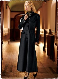 Peruvian Connection | Mirelle Maxi-Coat The #timelessly #chic silhouette releases in godets to a #dramatic flared hem