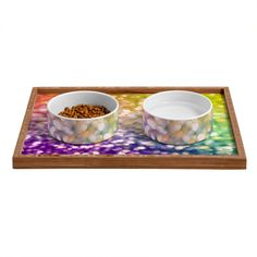 Lisa Argyropoulos Whirlwind Bokeh Pet Bowl and Tray | DENY Designs Home Accessories