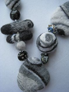 A felt beads - sea stones