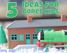 5 Ideas for Bored Kids: Think about toys they already have in anew way, pull out some games to play as a group or get crafting with the kids this holidays #kids #games #crafts #family