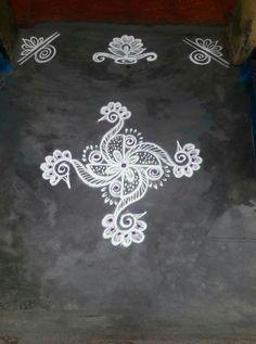Simple Rangoli Border Designs, Indian Rangoli Designs, Rangoli Designs Latest, Rangoli Designs Flower, Rangoli Borders, Latest Rangoli, Free Hand Rangoli Design, Small Rangoli Design, Rangoli Patterns