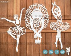 Ballerina SVG Bundle 3 Papercut Templates Set 2 Ballet