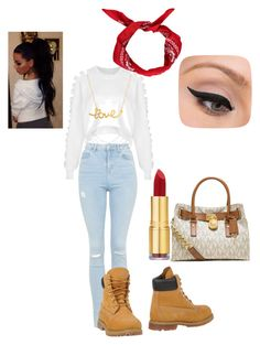 """""""Untitled #12"""" by hopealexx on Polyvore featuring The Ragged Priest, Topshop, Timberland, Boohoo, Minnie Grace, MICHAEL Michael Kors, LORAC and Isaac Mizrahi"""