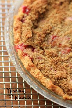 Rhubarb Strawberry Sour Cream Pie by Noshing With The Nolands