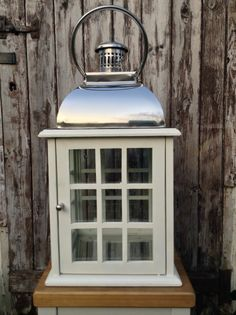 20 Stainless Steel Candle Lanterns Large Dapper Silver