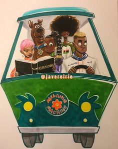 """Scooby Doo and Friends- Black Art version"" Black Love Art, Black Girl Art, Cartoon Kunst, Cartoon Art, Black Cartoon Characters, African American Art, African Art, Dope Kunst, Black Girl Cartoon"