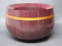 Handcrafted Wooden Bowl made from Purple Heart by Colemancrafts